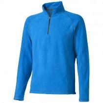 Bowlen microfleece sweater met kwart-rits