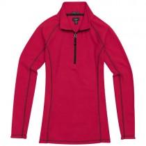 Bowlen microfleece dames sweater met kwart-rits