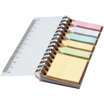 Spinner notitieboek met gekleurde sticky notes