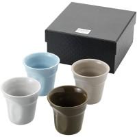 Milano 4 delige espressoset van keramiek