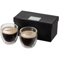 Boda 2 delige espressoset van glas