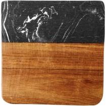 Harlow onderzetters van marmer en hout
