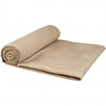 Aira micro pluche fleece deken met katoenen opbergzak