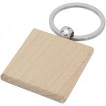 Gioia beukenhouten vierkante sleutelhanger