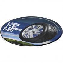 Brite-Mat® ronde onderzetter met bandmateriaal