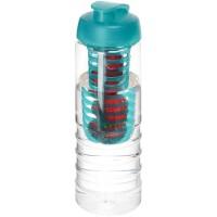 H2O Treble 750 ml drinkfles en infuser met kanteldeksel