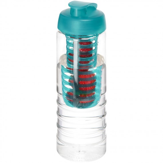 H2O Treble 750 ml drinkfles en infuser met kanteldeksel