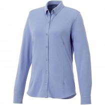 Bigelow piqué dames blouse met lange mouwen